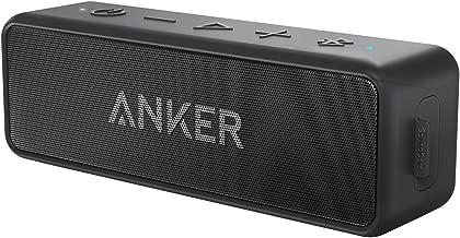 【改善版】Anker Soundcore 2 (12W Bluetooth5.0 スピーカー 24時間連続再生)【完全ワイヤレスステレオ対応/強化された低音 / IPX7防水規格 / デュアルドライバー/マイク内蔵】(ブラック)