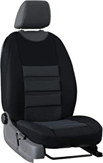 Schwarz-rot Effekt 3D Sitzbezüge für DAIHATSU CUORE Autositzbezug FAHRERSITZ