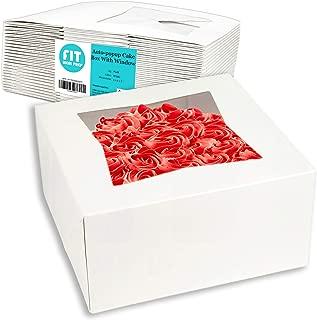 [25 Pack] Pie/Cake Box with Window 6x6x3