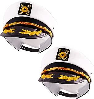 Wall2Wall Captain's Yacht Sailors Hat Snapback Adjustable Sea Cap Navy Costume Accessory