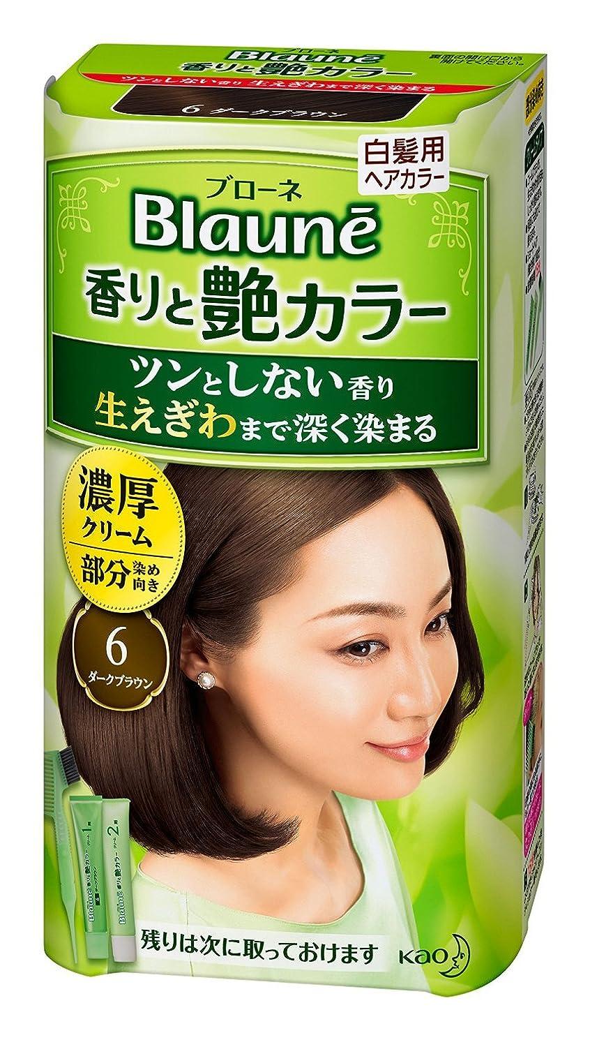 西嵐の過ち【花王】ブローネ 香りと艶カラー クリーム 6:ダークブラウン 80g ×10個セット