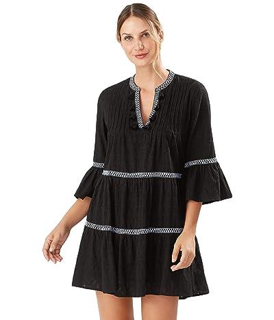Tommy Bahama Cotton Clip Embellished Tier Dress