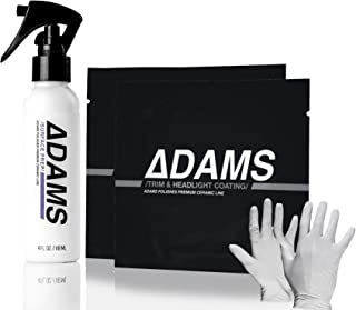 Adam's Quick Headlight & Taillight Restoration Kit - Clear and Clean Hazy, Oxidized Headlights Quickly - Ceramic Coating Protection Provides Months of Protection