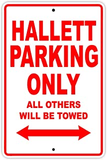 Hallett Parking Only All Others Will Be Towed Boat Ship Yacht Marina Lake Dock Yawl Craftmanship Metal Aluminum 8