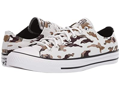 Converse Chuck Taylor All Star All Over Camo Ox (Vintage White/Black/White) Shoes