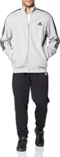adidas Men's M 3S FT TT TS Tracksuit, top:Legend Ink/White Bottom:Legend Ink f17/white, 7