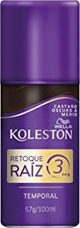 Wella Koleston Spray Retoque Raiz 3 Temporal, Castaño Oscuro a Medio - 100ml