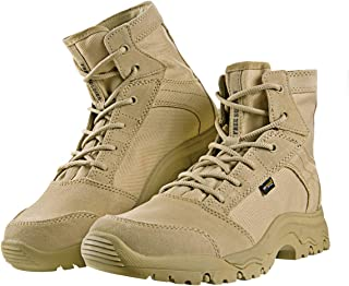FREE SOLDIER Outdoor Men's Lightweight Desert Tactical Boots Durable Breathable Backpacking Boots