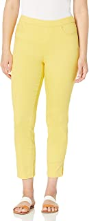 Tribal womens PULL ON ANKLE PANT W/LUREX TWILL TAPE DTL Pants