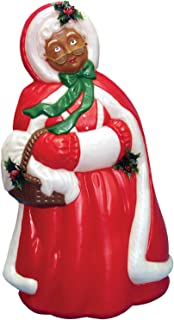 Mrs Santa Claus African American Christmas Light-up Blow Mold Plastic Lighted 40