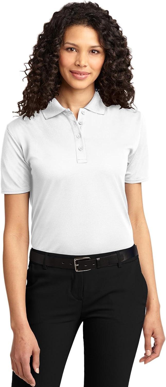 Port Authority Ladies Dry Zone Ottoman Polo Shirt, White