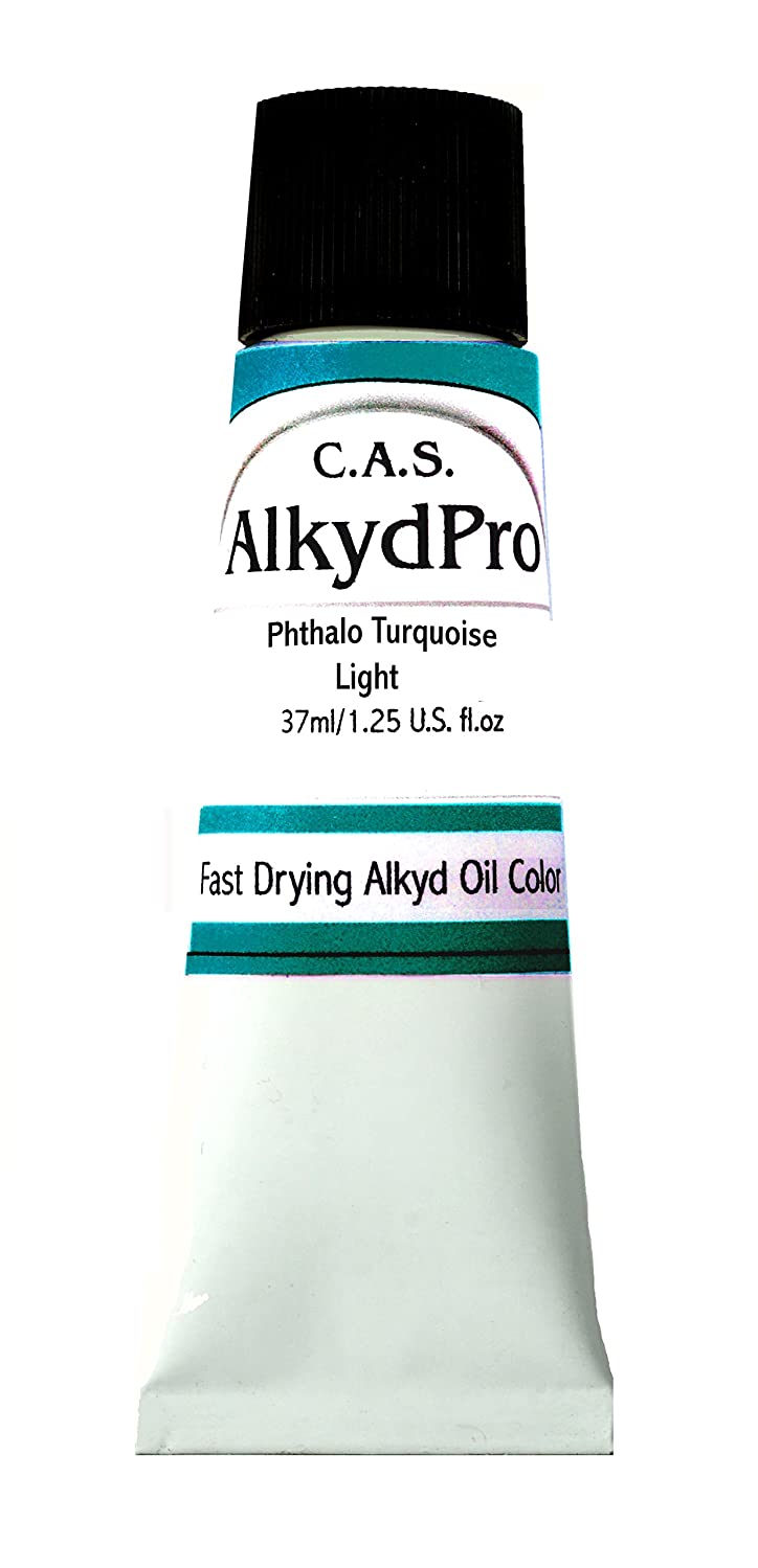 C.A.S. Paints AlkydPro Fast-Drying Oil Color Paint Tube, 37ml, Phthalo Turquoise Light