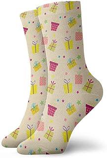 tyui7, Calcetines de compresión antideslizantes de patrones sin fisuras Cosy Athletic 30cm Crew Calcetines para hombres, mujeres, niños