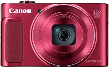 Canon PowerShot 25X Optical Zoom SX620 HS (Red)+ 8GB Memory Card + Camera Case