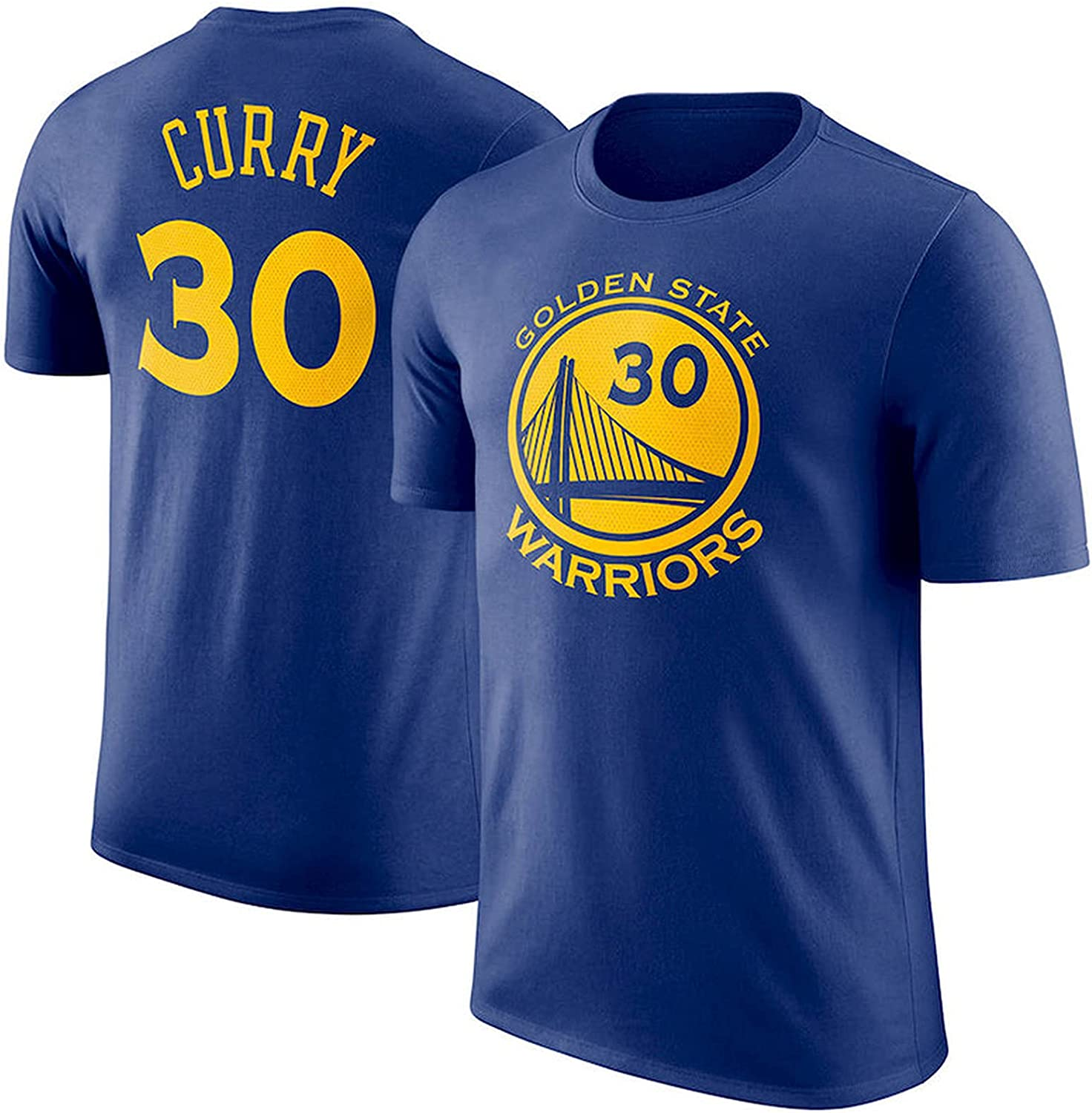 Golden State Warriors Stephen Curry # 30 Mens Basketball T-Shirt,Classic Commemorative Short-Sleeved Basketball Jersey ,Suitable for Basketball Fans Party and Outdoor Sports