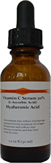 Vitamin C Skin Serum 20% (L-ascorbic Acid) with Pure Hyaluronic Acid Anti Aging Serum