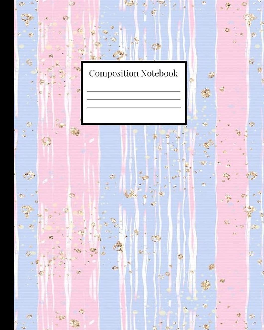 スクラブ岩艦隊Composition Notebook: Pastel Pink and Purple with Gold Elements (Pastel Composition Notebooks)