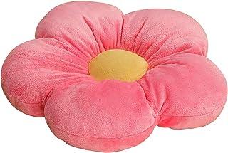 Cojín con forma de flor, de felpa gruesa, decoración interior y exterior, para esquina de lectura, dormitorio, televisión (rosa)