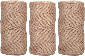 Quotidian 738 Feet (c. 246 Yards) 1/8 inch 3 ply Natural Jute Twine String Rolls for Packing String, Artworks Crafts, Gift Wrapping, Picture Display and Gardening (3mm)