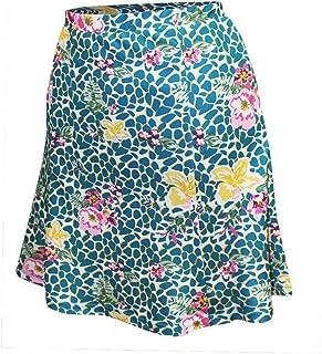 Monterey Club Ladies' Dry Swing Vivid Flower Leopard Pull-on Skort #2925