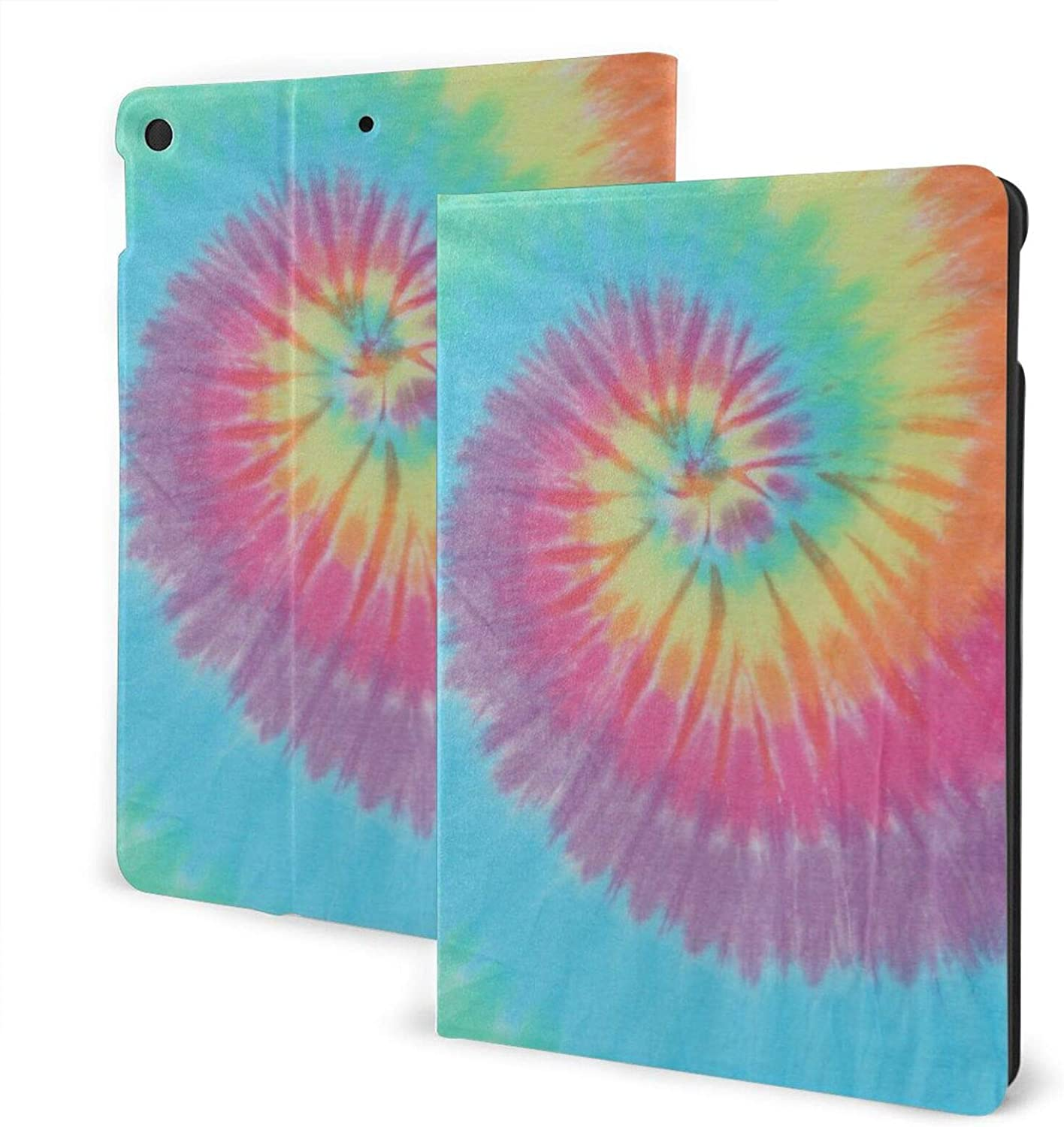 Ipad Air 3 Ipad Pro Ipad 7th Case Tie-Dye Protective Shockproof for Apple Free-Angle Viewing Cover with Adjustable Stand Auto Sleep Wake Function