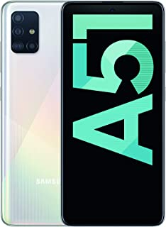 Samsung SM-A515FZWVEUB Galaxy A51 Smartphone (16,4 cm (6,5″) 128 GB Internminne, 4 GB RAM, Dual Sim, Android,) Tysk Versio...