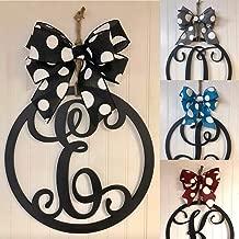 bow circle monogram