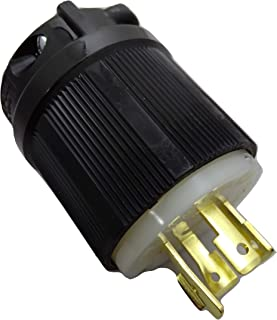 3 Pole Rated for 20A OCSParts L16-20 NEMA L16-20 Plug and Connector Set cUL Listed 4-Wire 480V Pack of 2