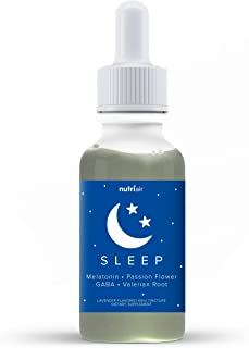 Nutriair Natural Sleep Aid Herbal Tincture - Lavender Flavored Liquid Melatonin 5mg - Naturally Calm Wellness Formula Vale...