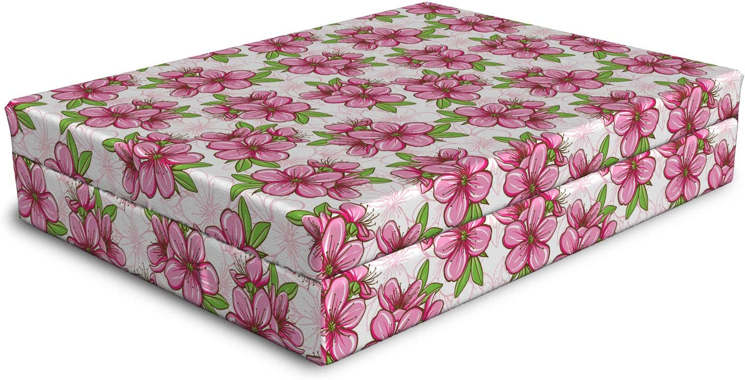 Ambesonne Almond Blossom Free Shipping Cheap Bargain Gift Dog Bed with Ranking TOP8 Cherry Pattern Fo