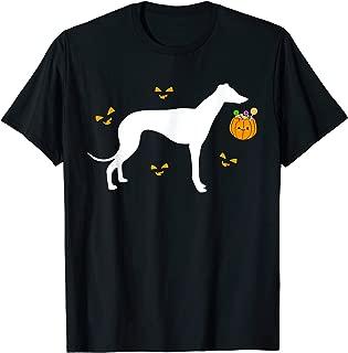 Greyhound Halloween Costume Outfit Pumpkin Dog Pet T-Shirt