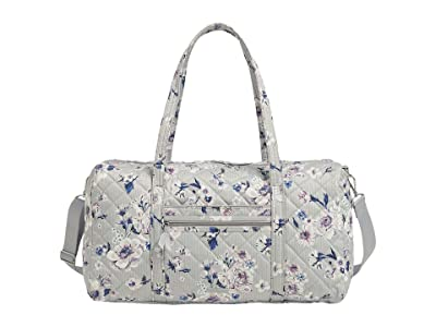 Vera Bradley Iconic Performance Twill Lay Flat Travel Duffel (Park Stripe) Carry on Luggage