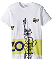 Kenzo Kids - Paperplane Statue Tee Shirt (Big Kids)