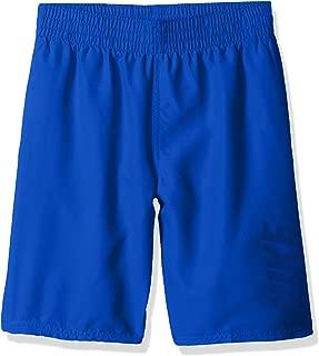 Boys' Big Logo Solid Lap Volley Short Swim Trunk