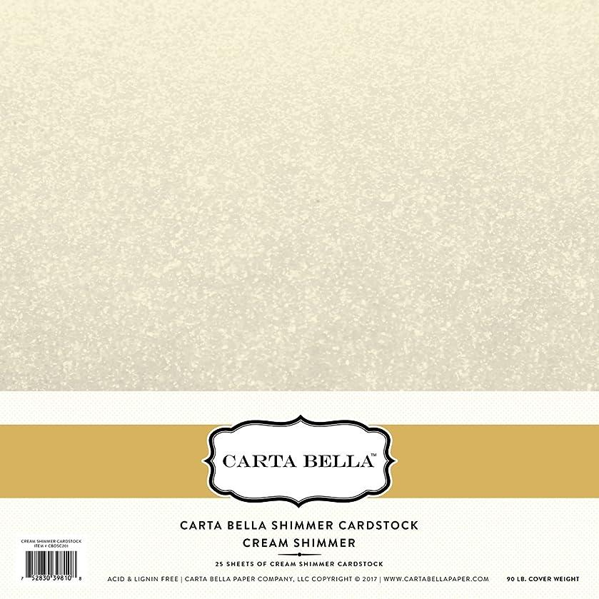 Carta Bella Paper Company Cream Shimmer Cardstock 92lb. Cover
