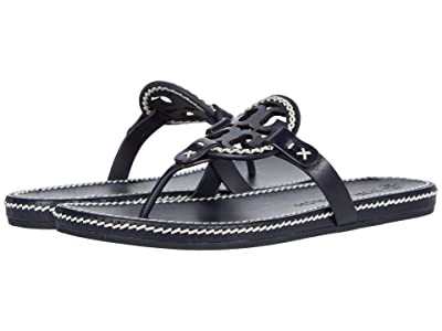 Tory Burch Whipstitch Miller (Perfect Navy/New Ivory) Women