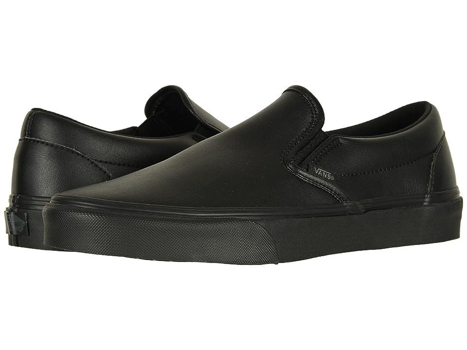 63df362ce07f Vans Classic Slip-Ontm ((Classic Tumble) Black Mono) Skate Shoes