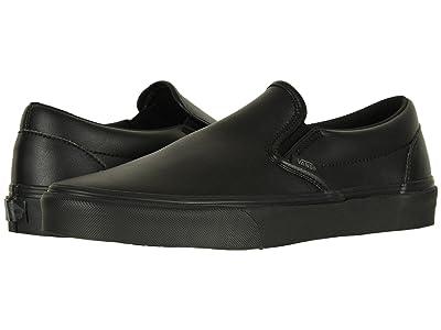 Vans Classic Slip-Ontm ((Classic Tumble) Black Mono) Skate Shoes