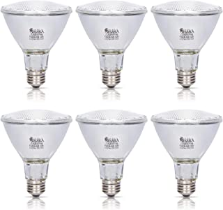 Simba Lighting Halogen PAR30 Long Neck Light Bulb 60W 60PAR30/FL 30deg Spotlight Dimmable (6-Pack) for Indoor Recessed Can and Outdoor PAR 30, 120V E26 Base, 75W Replacement, 2700K Warm White