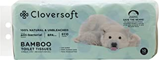 Cloversoft Unbleached Bamboo Toilet Tissues, 3 PLY, 200ct (Pack of 10)