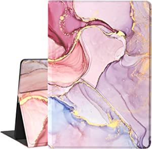 iPad 5th/6th Generation Case, Feams Slim PU iPad Air 2 Case with Smart Auto Sleep Flip Stand Cover for iPad 9.7 inch 2017/2018, Pink Marble
