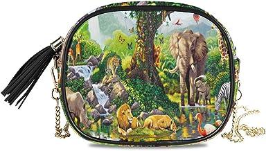 Jungle Oasis Women Chain Messenger Bag Crossbody Purses for Girl