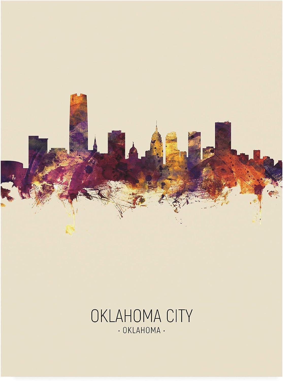 Trademark Fine Art Oklahoma City Skyline Portrait III