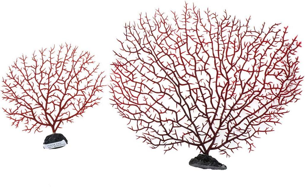 Semetall Sea 2021 autumn and winter new Coral Aquarium Rapid rise Ornament Fans Decorations
