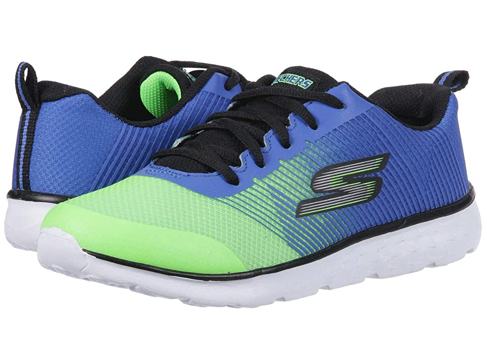 SKECHERS KIDS Go Run 400 (Little Kid/Big Kid) (Blue/Lime) Boy