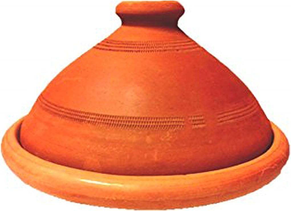 Tont/öpfe zum Kochen unkompliziert authentisch rustikal marokkanischer Tajine-Kochtopf f/ür alle Herdarten Gold + Schwarz Tajine Kochtopf Tonpfanne