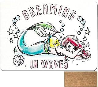珪藻土バスマット ディズニー プーさん カラー チップとデール ミッキー アリエル 猫 大きい l 水切り 珪藻土バスマット 足拭きマット お風呂 かわいい おしゃれ 子供に (アリエル) [並行輸入品]