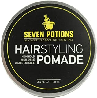 Hair Styling Pomade For Men 3.4 fl oz - High Shine - High Hold - Water Based - Natural, Organic, Vegan, Cruelty Free