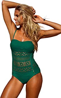 LookbookStore de la mujer Crochet Lace Halter correas Swimsuits Traje De Baño US 0–16