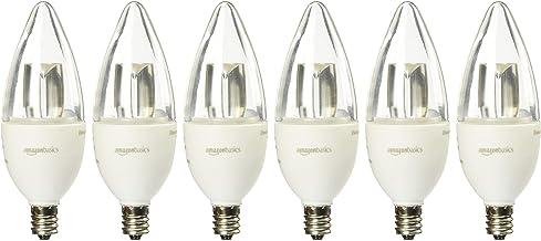AmazonBasics 40 Watt Equivalent, Soft White, Dimmable, B11 LED Light Bulb (Renewed) 4.7W